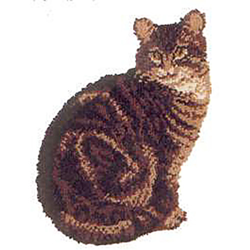 Purrdy Shaped Latch Hook Rug Kit
