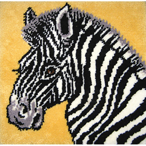 Zebra Latch Hook Rug Kit