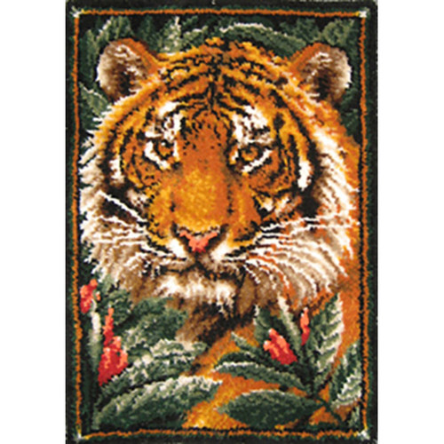 Jungle Tiger Latch Hook Rug Kit