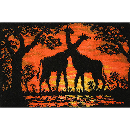 Giraffes at Sunset Latch Hook Rug Kit