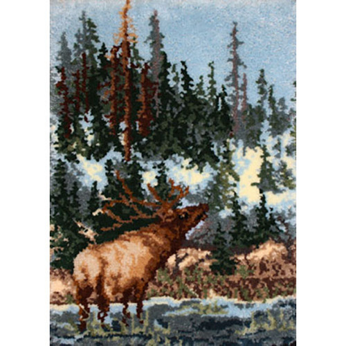 Elk Latch Hook Rug Kit