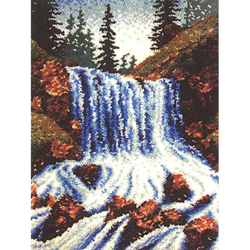 Mountain Falls  Latch Hook Rug Kit