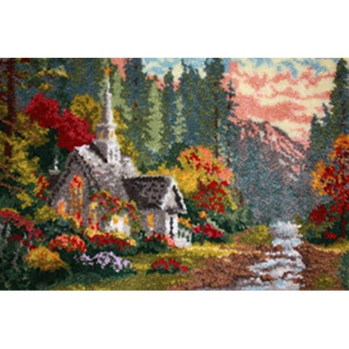 Forest Chapel Latch Hook Rug Kit