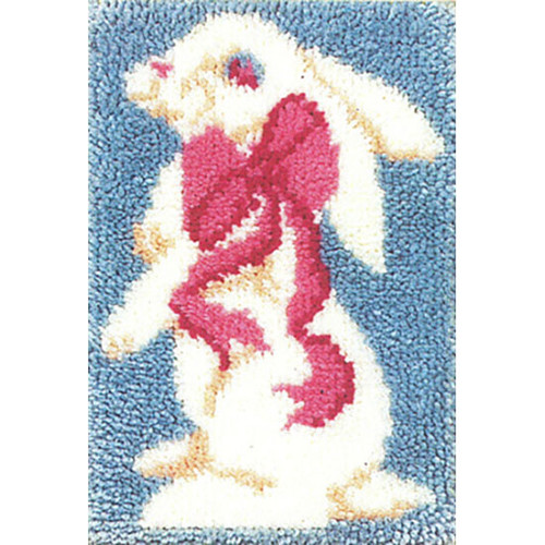 Bunny Rug  Latch Hook Rug Kit
