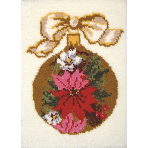 Poinsettia Latch Hook Rug Kit