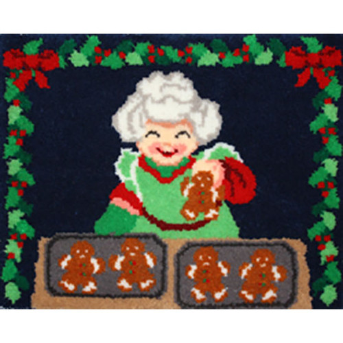 Mrs. Claus' Bakery Latch Hook Rug Kit