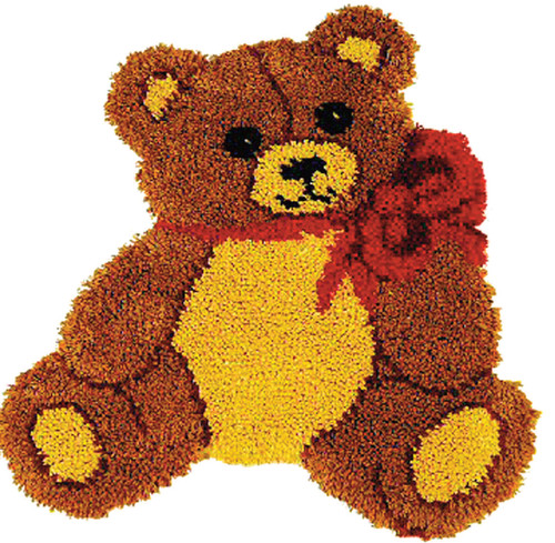 Teddy Bear Shaped Latch Hook Kit