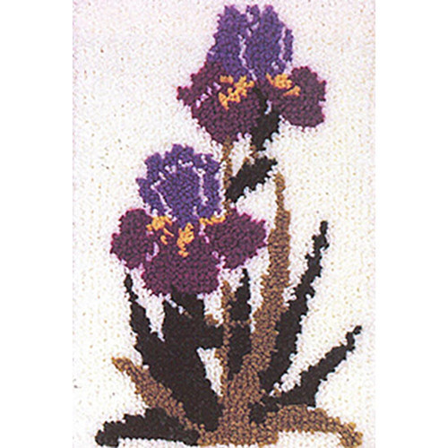 Double Bloom  Latch Hook Rug Kit