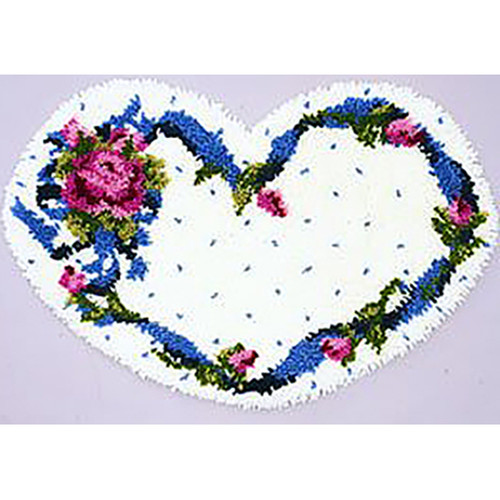 Melissa's Heart Shaped  Latch Hook Rug Kit