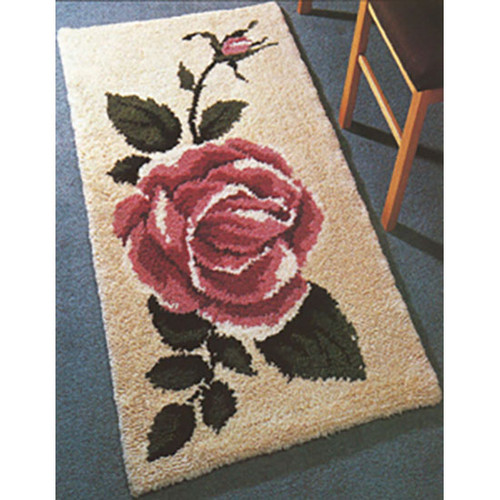 Classic Rose  Latch Hook Rug Kit