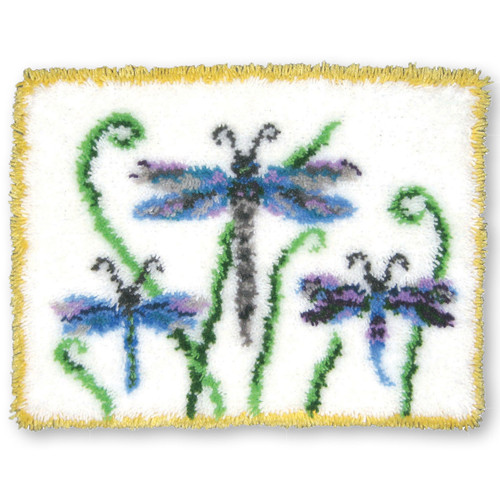 Dragonfly Jewels Latch Hook Rug Kit