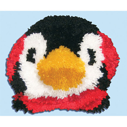 Penguin Latch Hook Pillow Kit