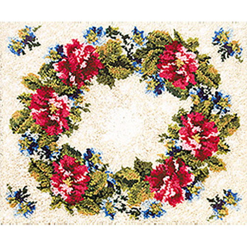 Floral Latch Hook Rug Kit