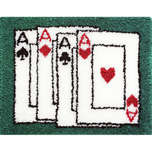 Aces Latch Hook Rug Kit