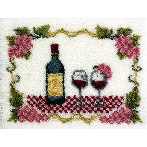 Fine Wine Latch Hook Rug Kit