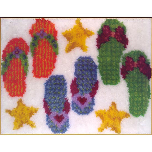 Flip Flop Latch Hook Rug Kit