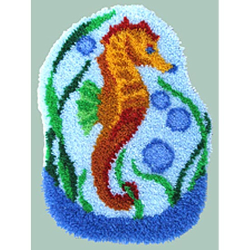 Seahorse Latch Hook Rug Kit