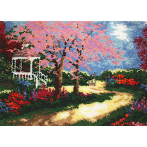 Garden Gazebo Latch Hook Rug Kit