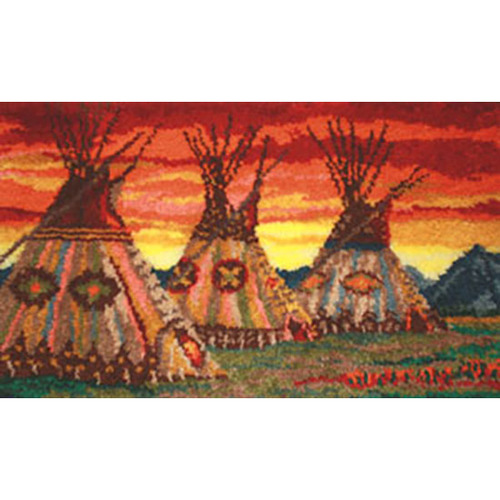 Teepee Sunset  Latch Hook Rug Kit