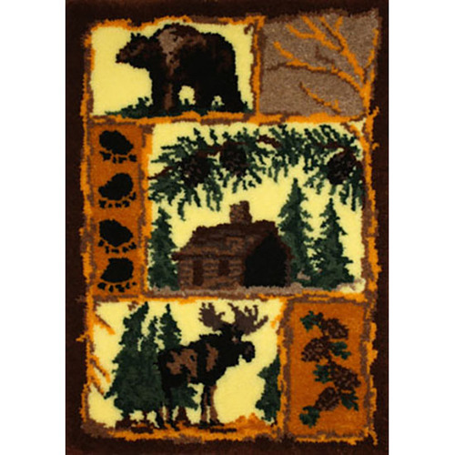 Woodland Latch Hook Rug Kit