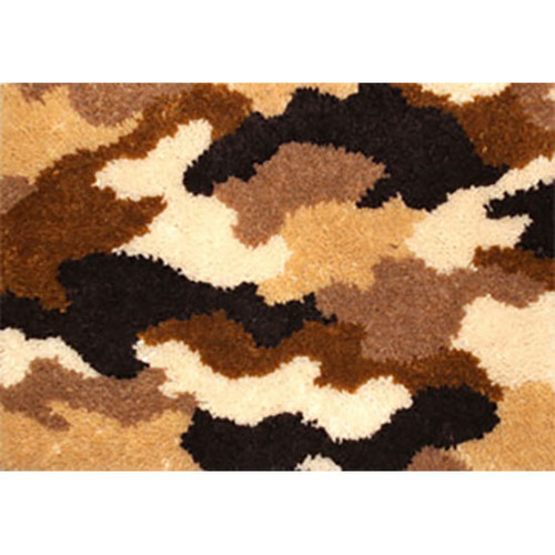 Camo Brown Latch Hook Rug Kit