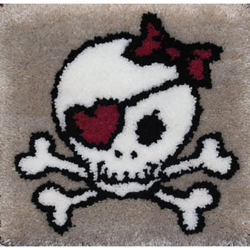 Skull Latch Hook Rug Kit