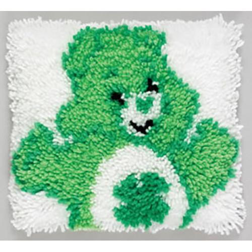 Good Luck Bear Latch Hook Pillow Kit