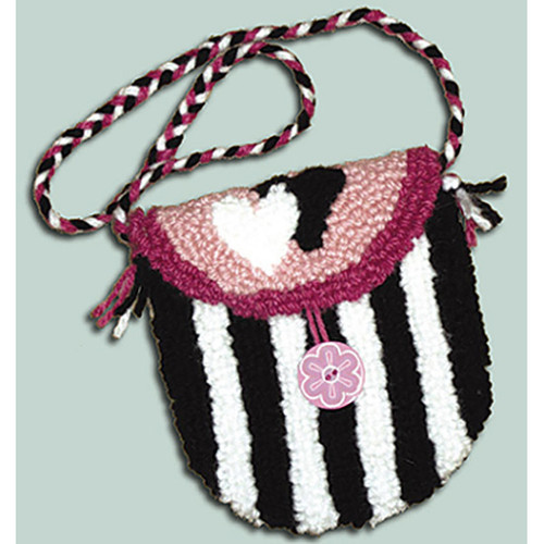 Hearts and Love Punch Needle Purse Kit