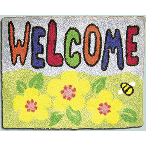 Welcome Punch Needle Rug Kit