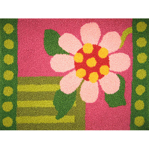 Geometric Floral Pillow Punch Needle Rug Kit