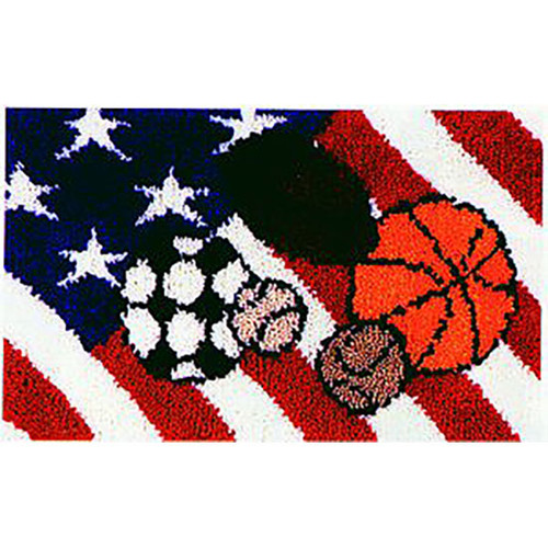 All American Sports Latch Hook Rug Kit