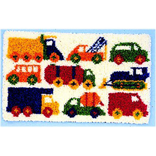 Traffic Jam  Latch Hook Rug Kit