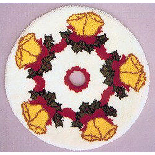 Bells Latch Hook Christmas Tree Skirt