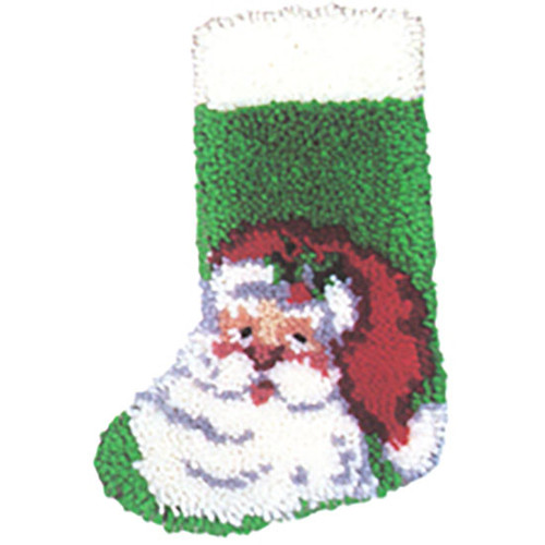 Santa Latch Hook Christmas Stocking Kit