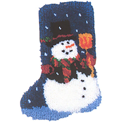 Snowman Latch Hook Christmas Stocking Kit