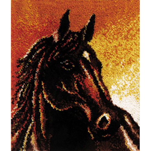 Arabian Stallion Latch Hook Rug Kit