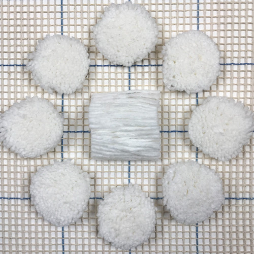 White Pre-cut Latch Hook Rug Yarn
