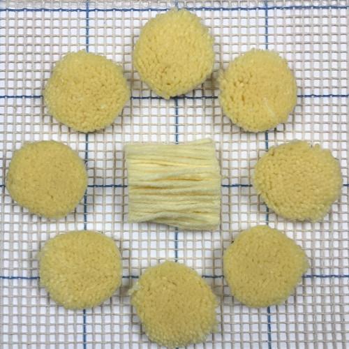 Pale Yellow Pre-cut Latch Hook Yarn