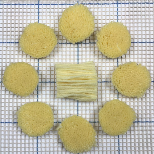 Pale Yellow Pre-cut Latch Hook Yarn