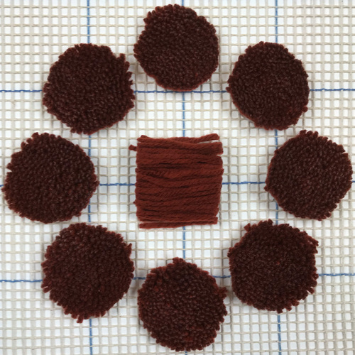 Rust Pre-cut Latch Hook Yarn