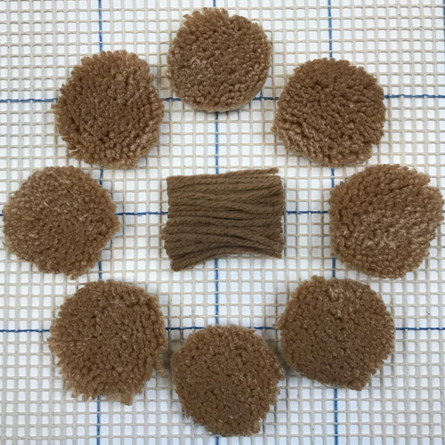 Light Brown Pre-cut Latch Hook Yarn