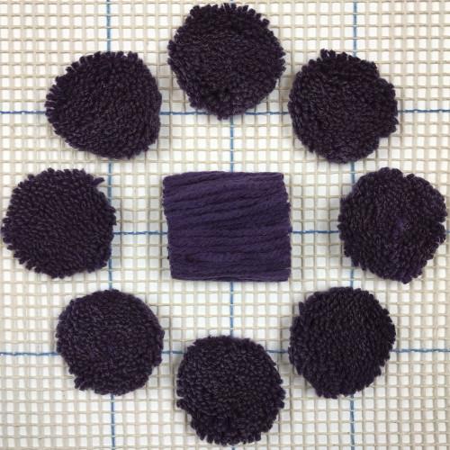 Purple Pre-cut Latch Hook Yarn