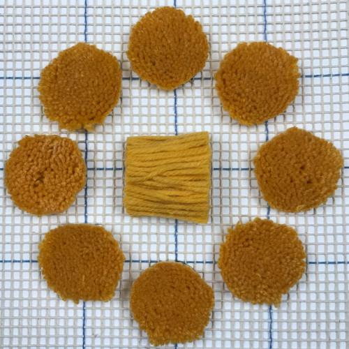 Gold Pre-cut Latch Hook Yarn