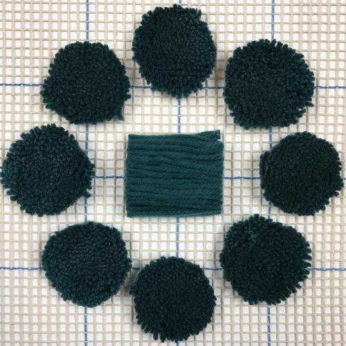 Dark Turquoise Pre-cut Latch Hook Yarn