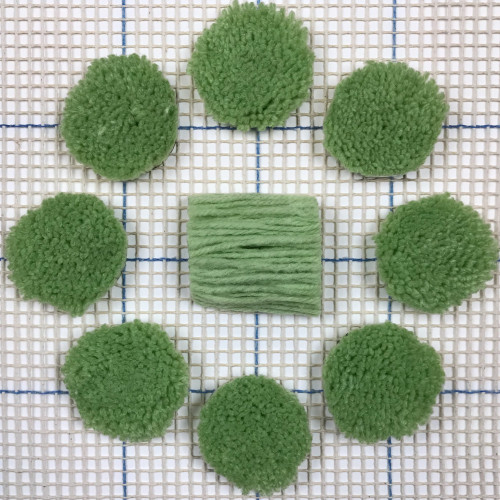 Light Green Pre-cut Latch Hook Yarn