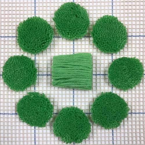 Medium Green Pre-cut Latch Hook Yarn