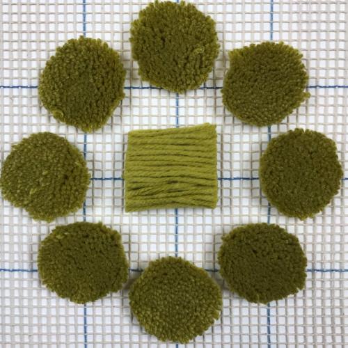 Light Avocado Pre-cut Latch Hook Yarn