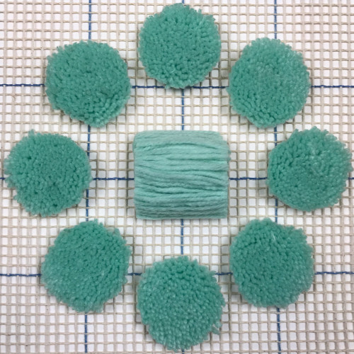 Very Light Seafoam Pre-cut Latch Hook Yarn