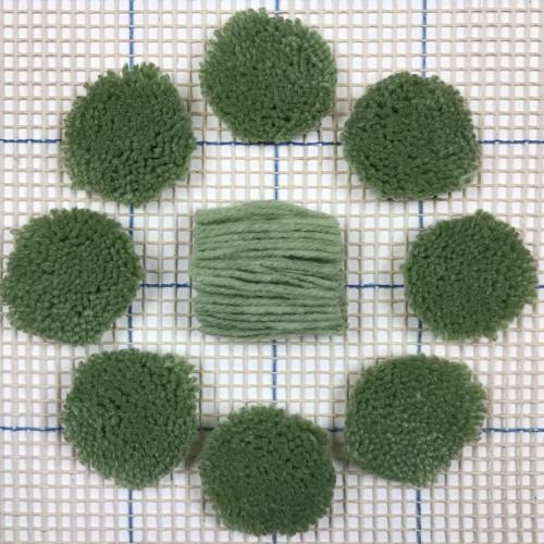 Light Forest Green Pre-cut Latch Hook Yarn