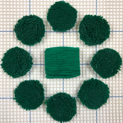 Green Pre-cut Latch Hook Yarn